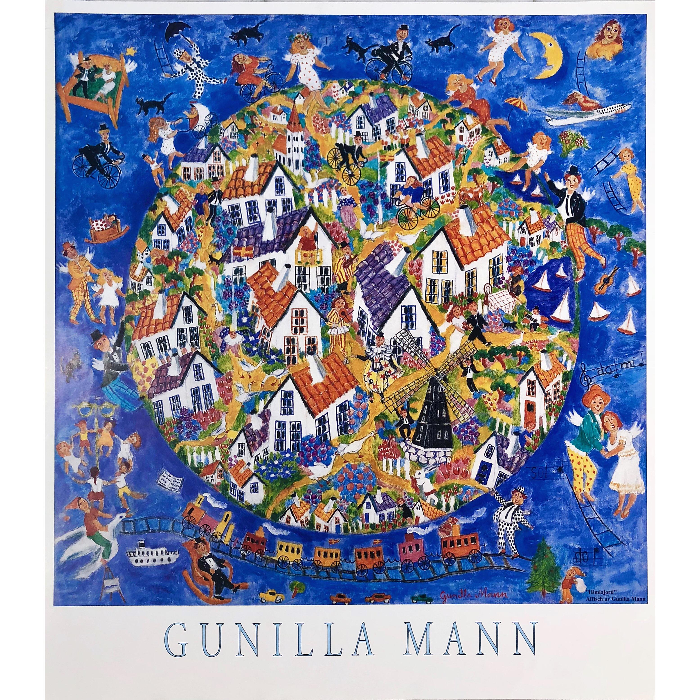 """Himlajord"" Artposter by Gunilla Mann. 70 x 78 cm"