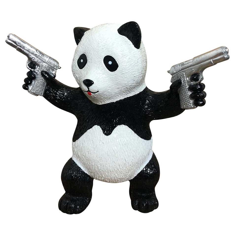 """""""Street Panda Silver"""" by Diederik van Apple"""