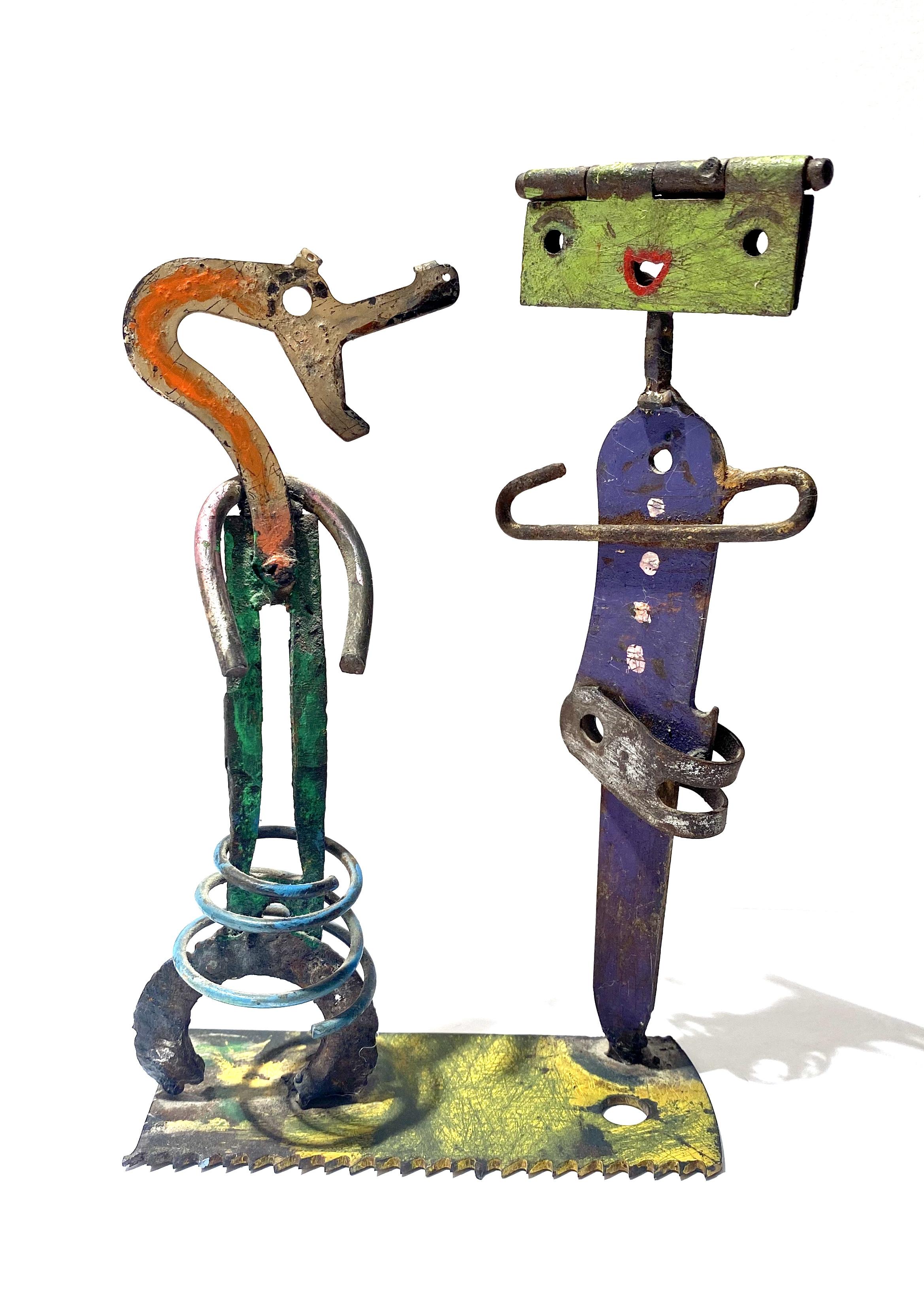 """""""Kvinde & Kroko-mand"""" skulptur av Jes Nordby"""