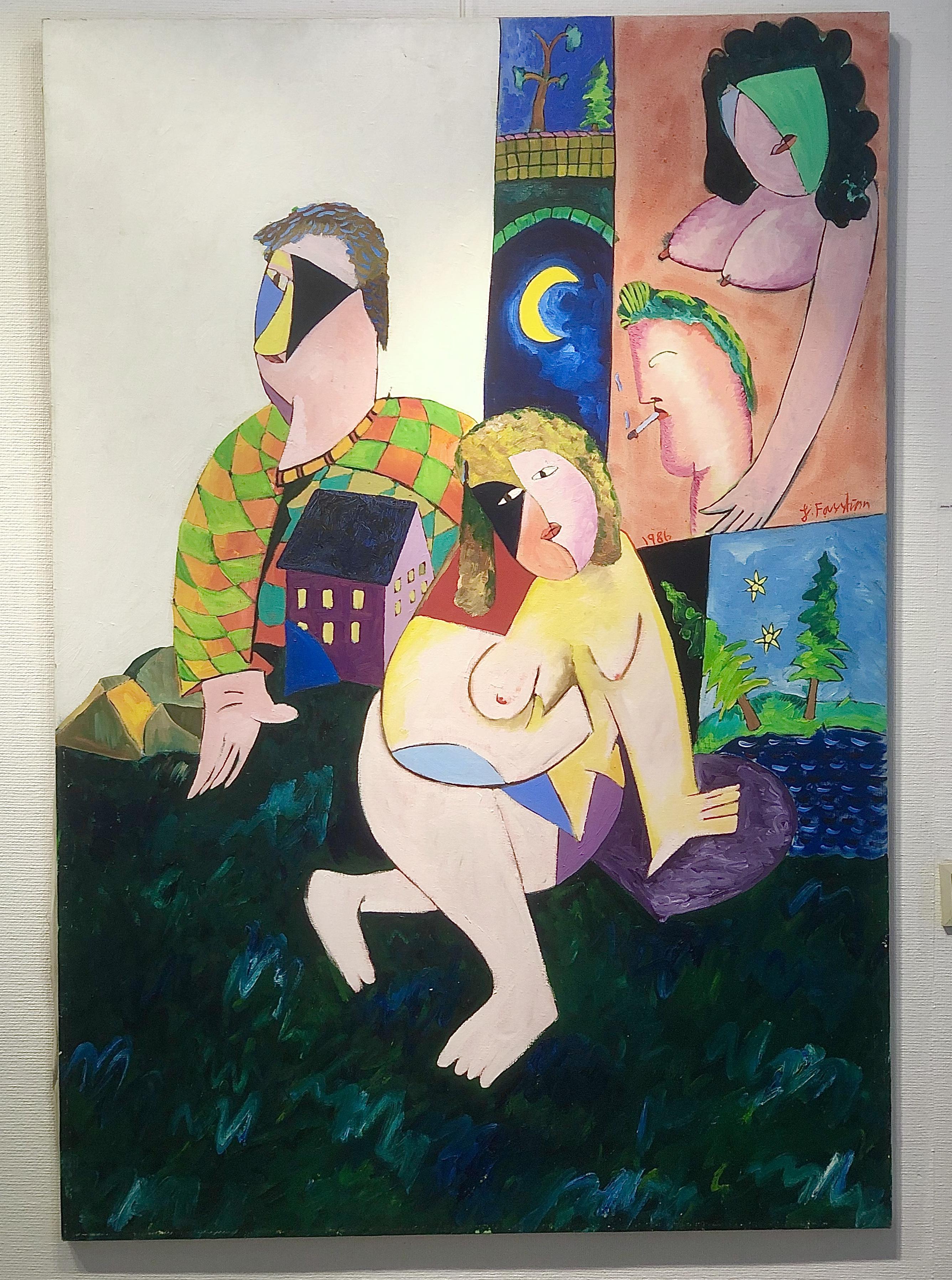 Johnny Forsström - Original från 1986. 110x160 cm