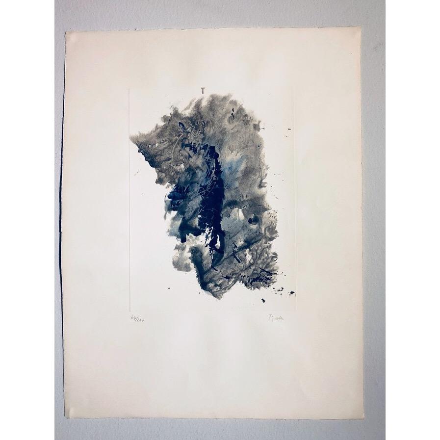 """""""No title"""" Lithograph by François Fiedler. 50 x 66 cm"""