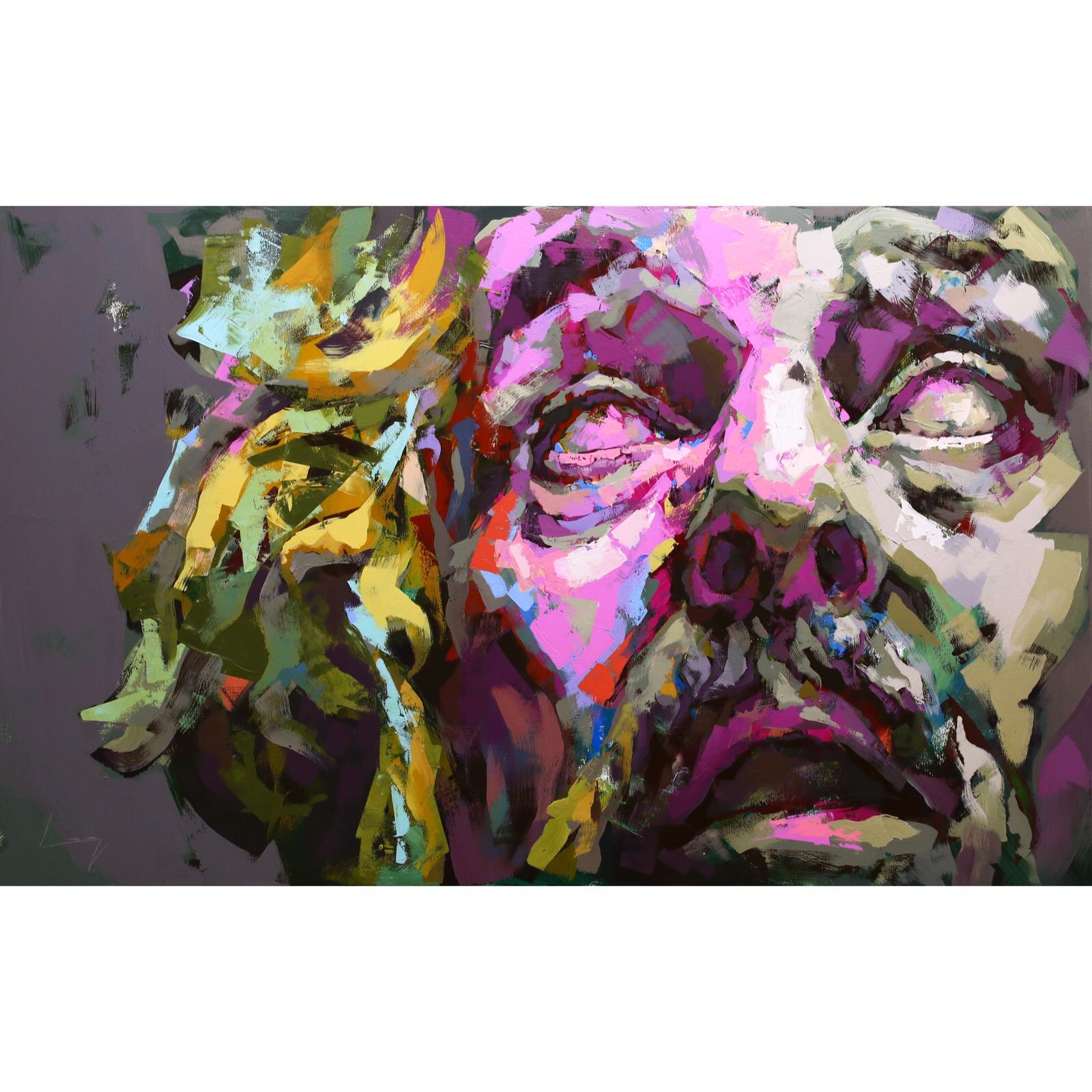 Erland Josephson (Fanny och Alexander) 100x160 cm by Alberto Ramirez LEG (Bergman)