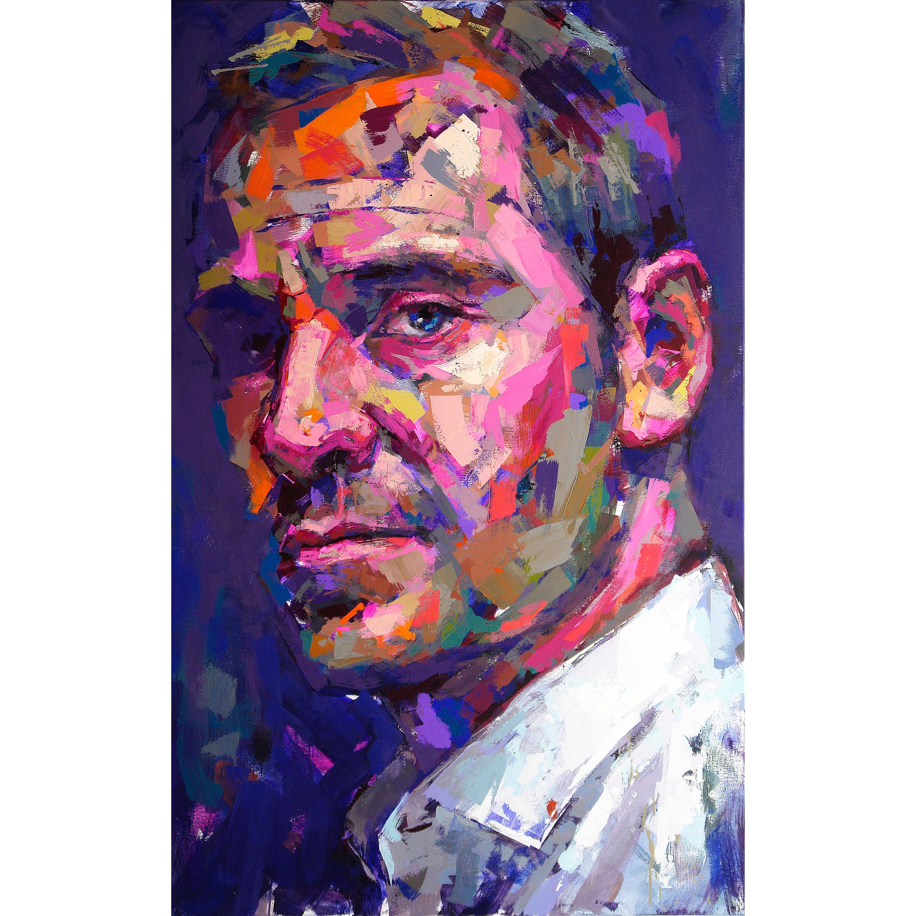 """Michael Fassbender"" Acrylic on canvas by Alberto Ramirez LEG. 160 x 100 cm"