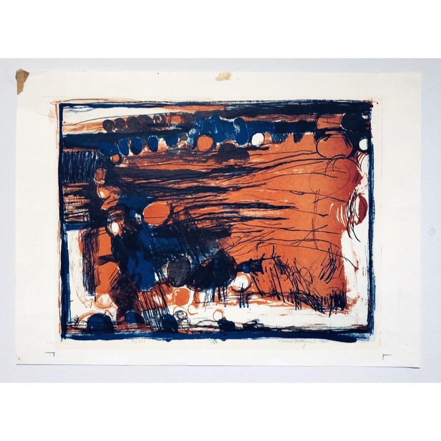 """""""No title"""" Lithograph by Denice Zetterqvist. 62 x 45 cm"""