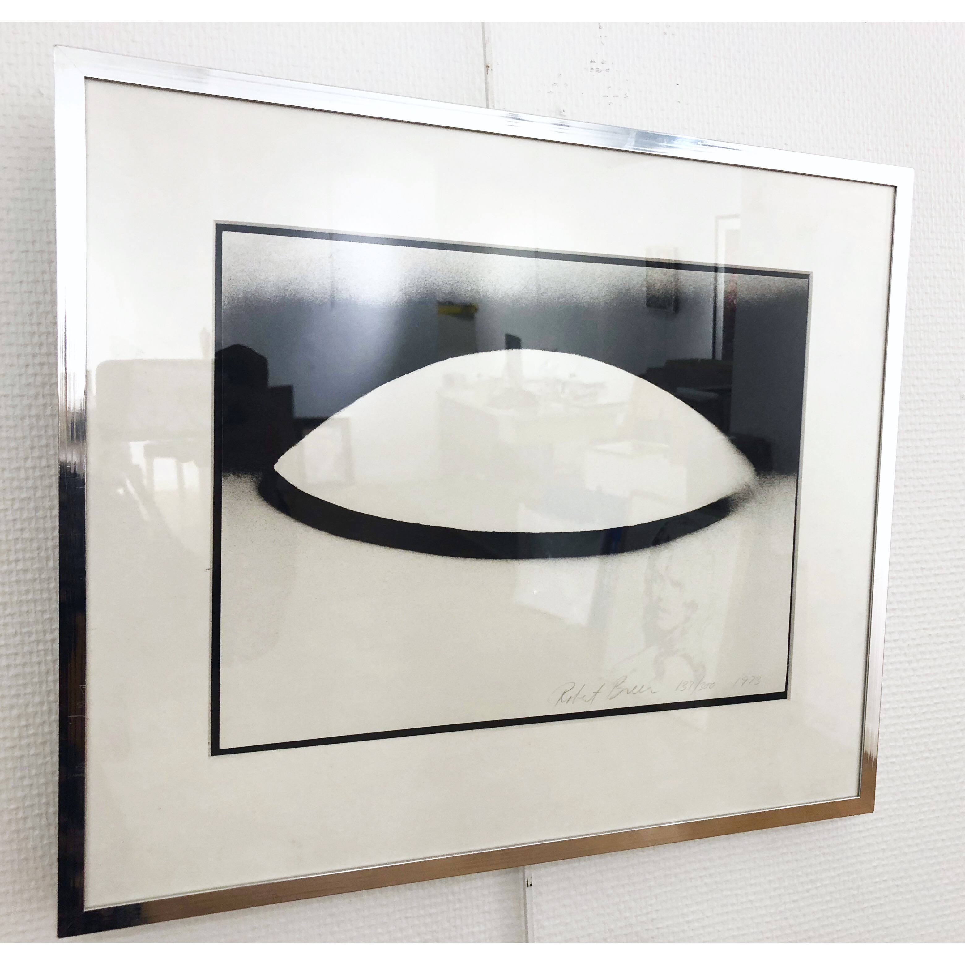 """""""No title"""" Lithograph by Robert Breer. 44 x 37 cm"""