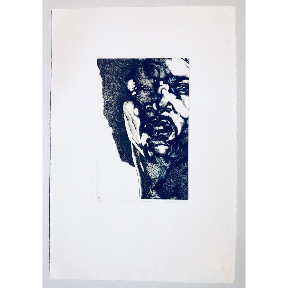 """Rock on JC (Jim Capaldi) Serigraph by David Oxtoby. 40 x 58 cm"