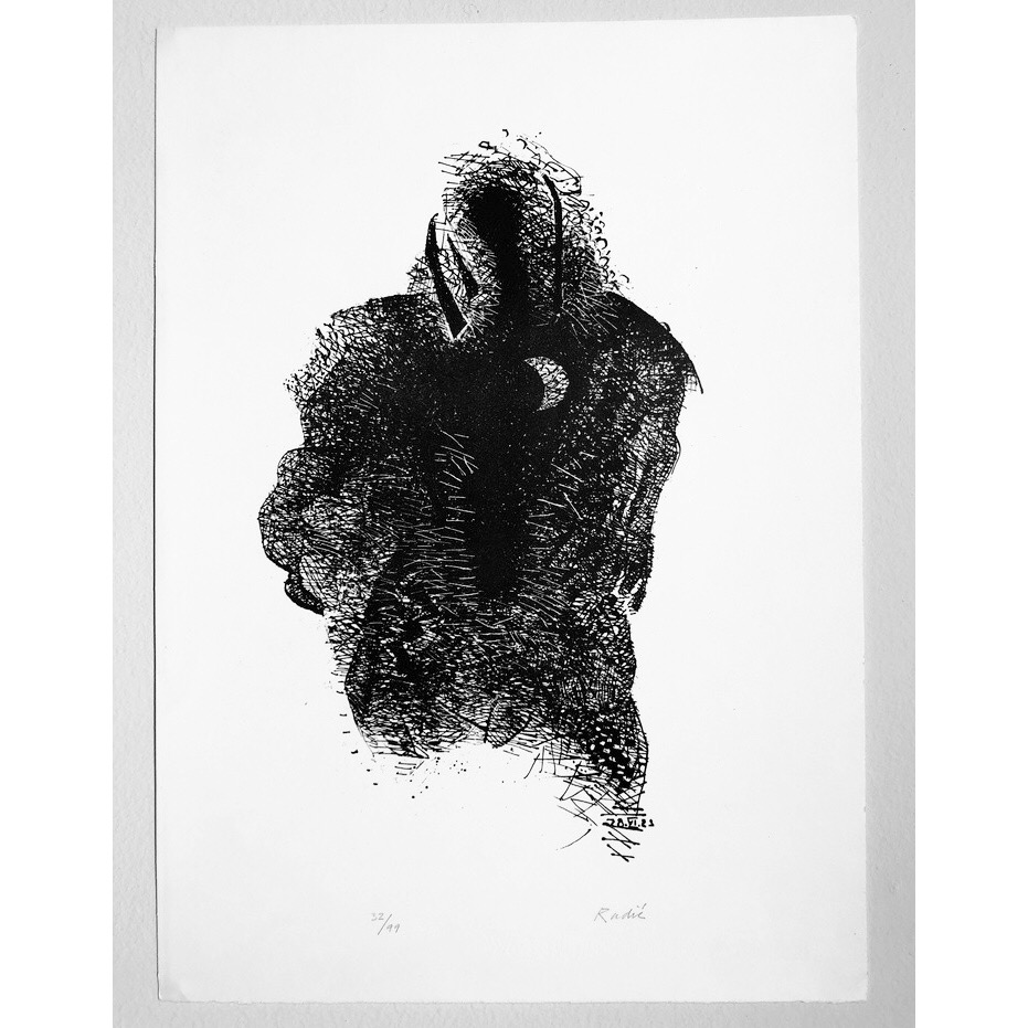 """""""No title"""" Lithograph by Teo Radic. 40 x 55 cm"""