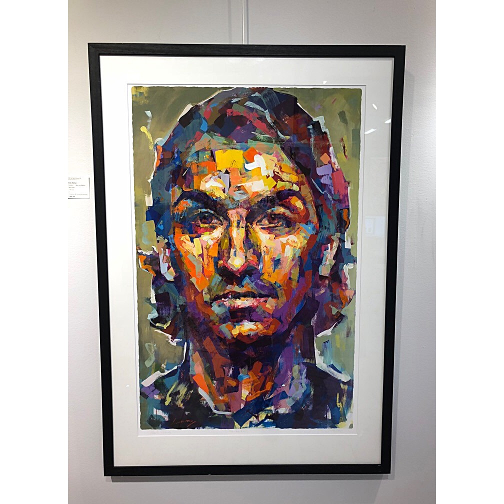 """""""Zlatan"""" - Art Giclée by Alberto Ramirez LEG. 100 x 125 cm."""