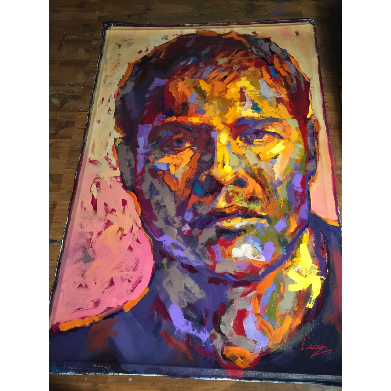 """Marlon Brando"" Acrylic on canvas by Alberto Ramirez LEG. 200x130 cm"