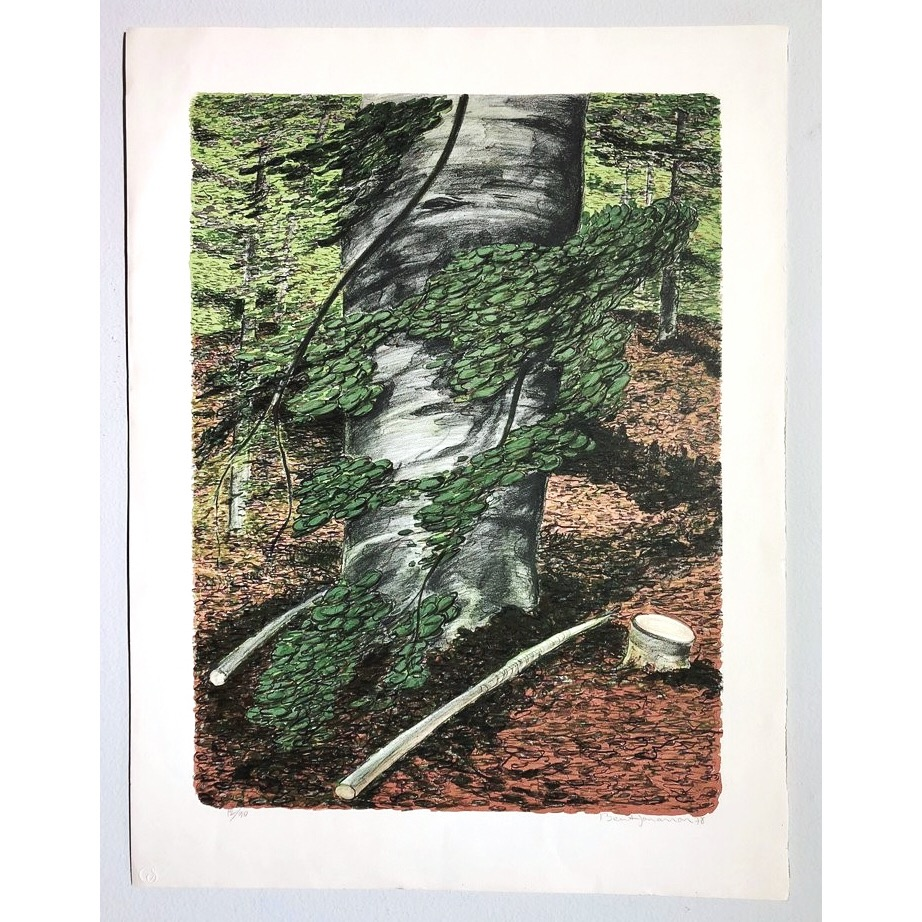"""No title"" Lithograph by Bernt Jonasson. 55,5 x 73 cm"