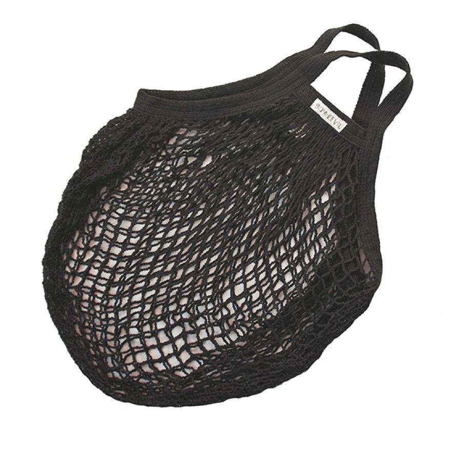 Black Organic Cotton String Bag