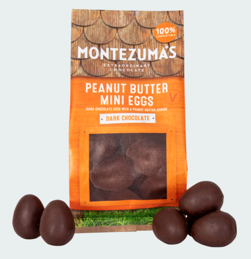 Montezuma's Dark Chocolate Peanut Butter Mini Eggs