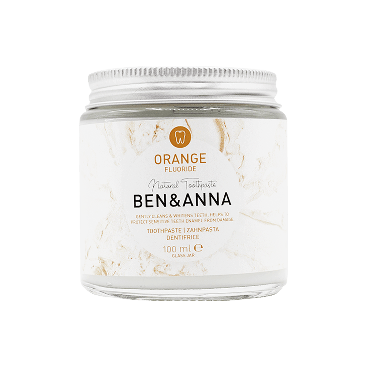 Ben & Anna Organic Orange Toothpaste with Fluoride