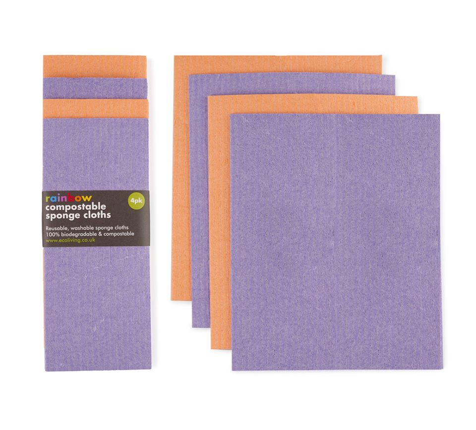 Compostable Sponge Cloths 4 Pack