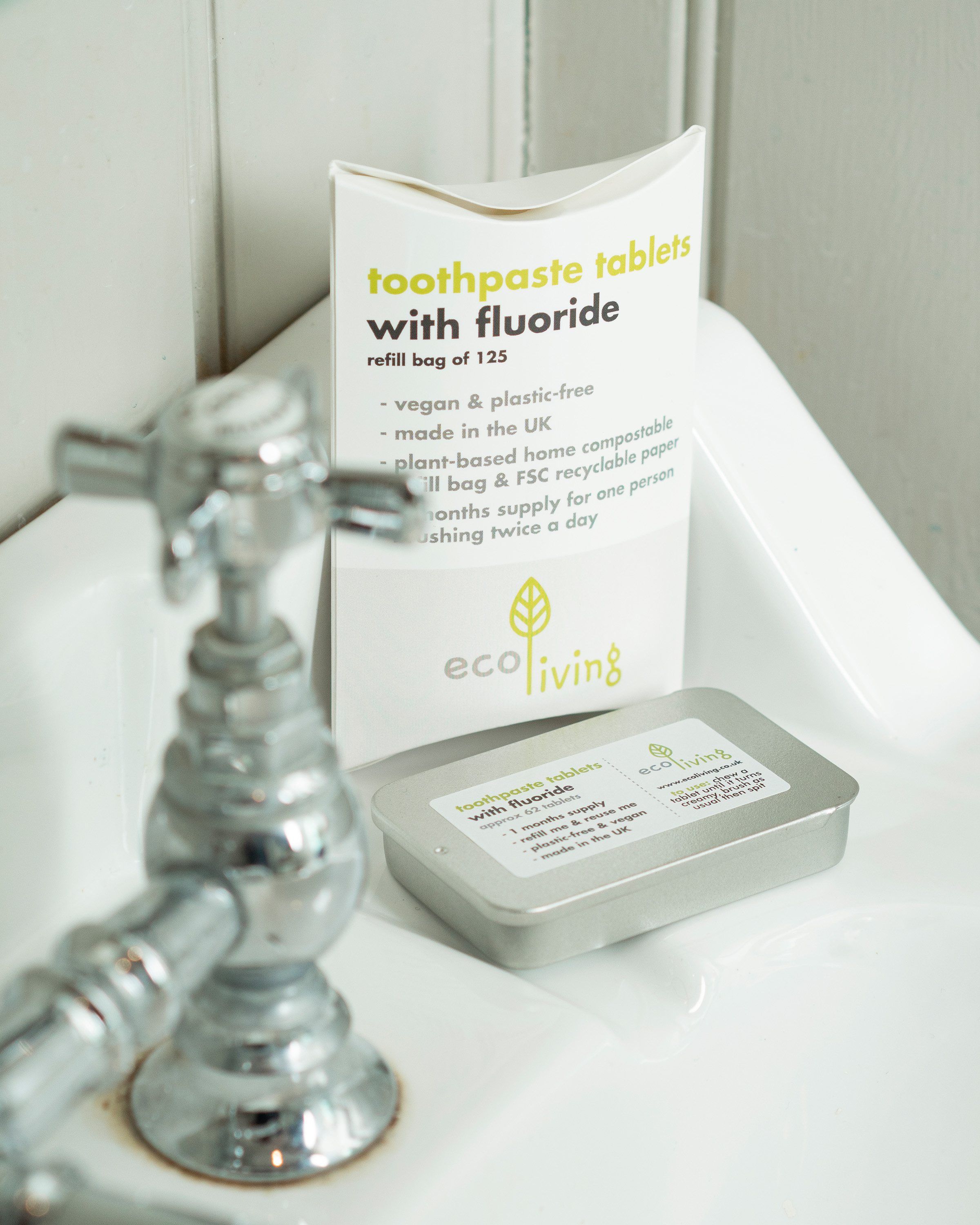 EcoLiving Toothpaste Tablet Refill Pack (with Flouride)