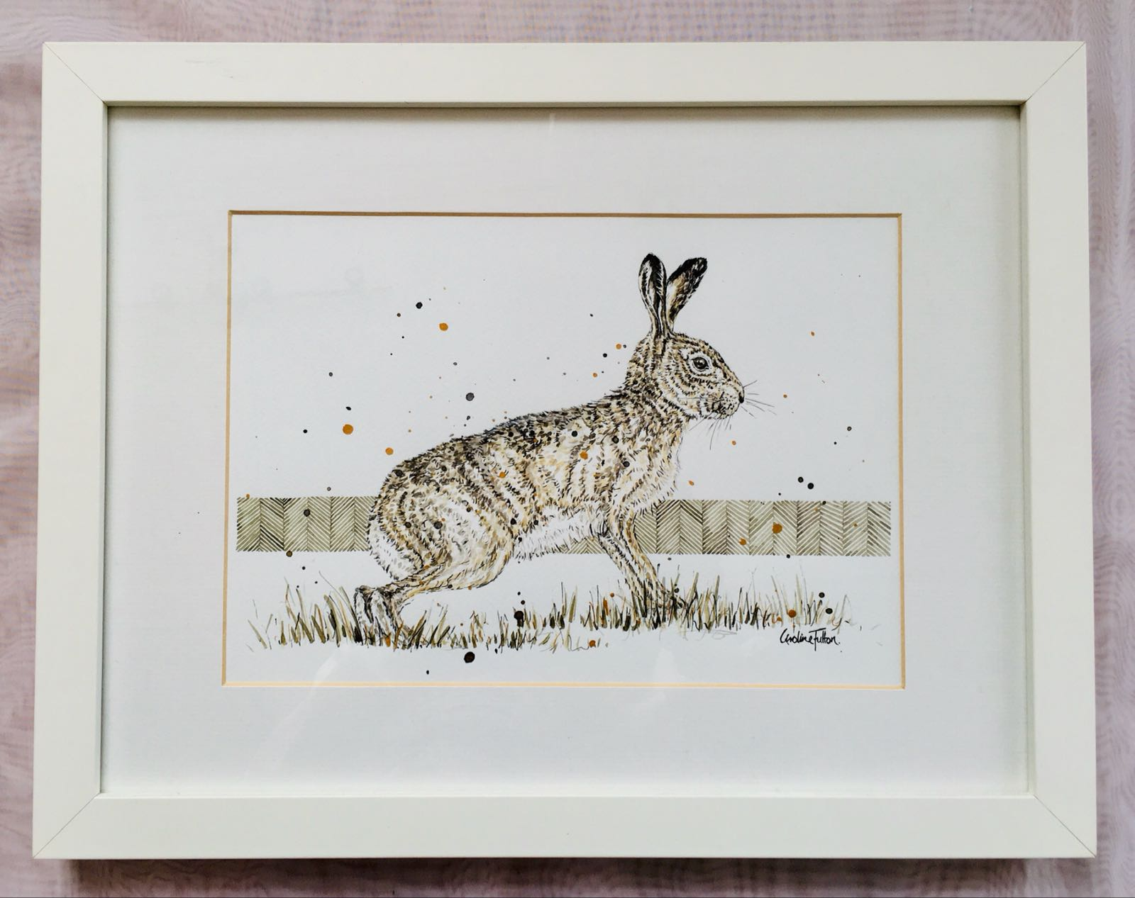 Brown Hare with Moss