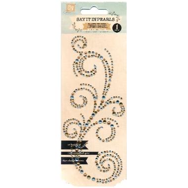 Bling og halvperler Swirl Gold/Silver PR553944