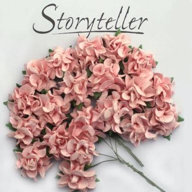 Blomst Villrose Rosa 25mm