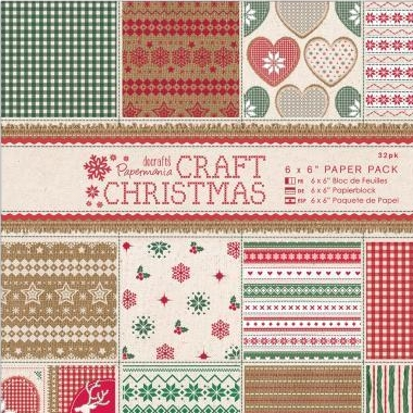 "Craft Christmas Paper Pack 6X6"" PMA1609"