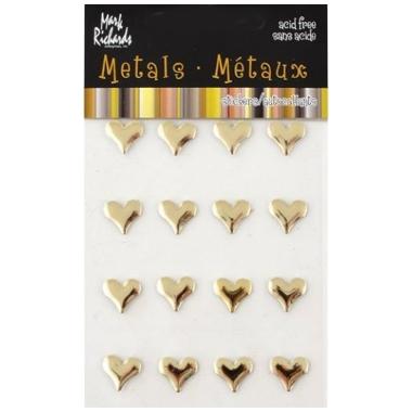 Hjerter Metall Gold 3828
