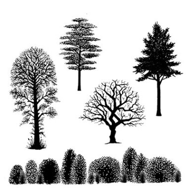 Stempel LAV219 Tree Scene