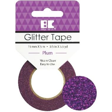 Washi Glitter Tape BC Plum GTS014