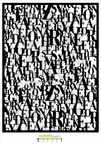 Stencil CS Composition Alphabetique MA40102