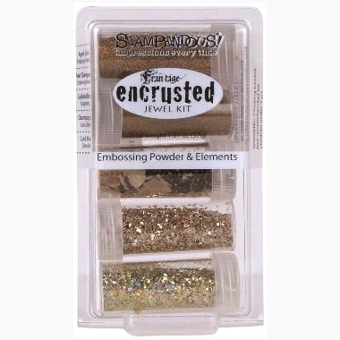 Embossing Powder EJK09 Encrusted Jewel Gold Kit