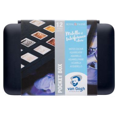 Van Gogh Akvarell pocketbok Metallic & Interference colors