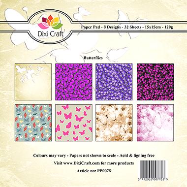 Butterflies Paper Pad PP0078