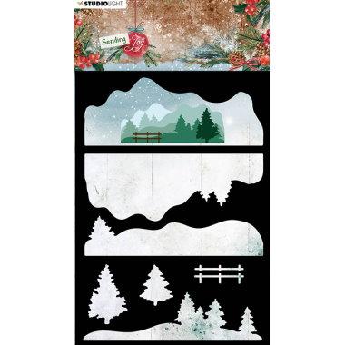 StudioLight Stencil Winter Landscape 33