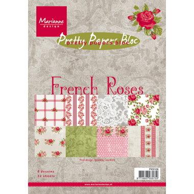 Marianne Design Blokk A5 French Roses