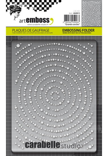 Embossing Folder CS Grands cercles AE60013