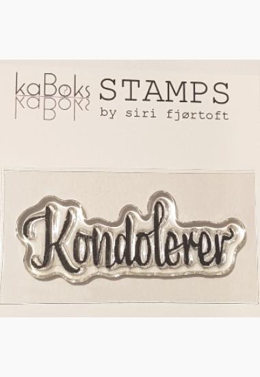 Stempel KB Kondolerer