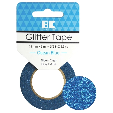 Washi Glitter Tape BC Ocean Blue GTS013