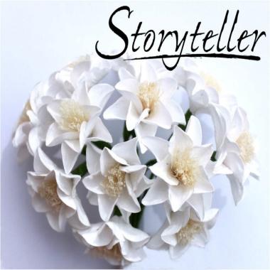 Blomst Lilje Hvit 25mm