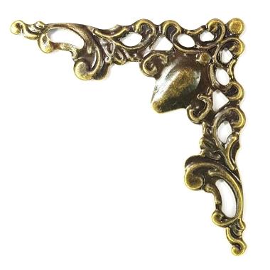 Ornament hjørne Antikk gold 8stk