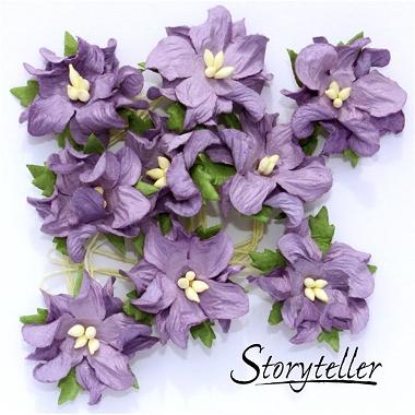 Blomst Gardenia Lilla 25mm