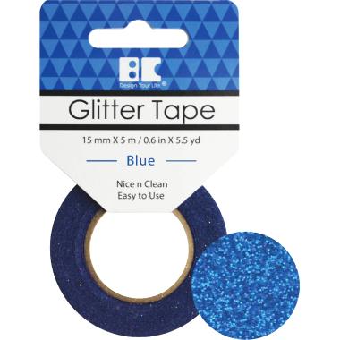 Washi Glitter Tape BC Blue GTS004