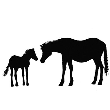 Stempel LAV006 Horse and Foal