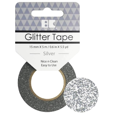 Washi Glitter Tape BC Silver GTS001