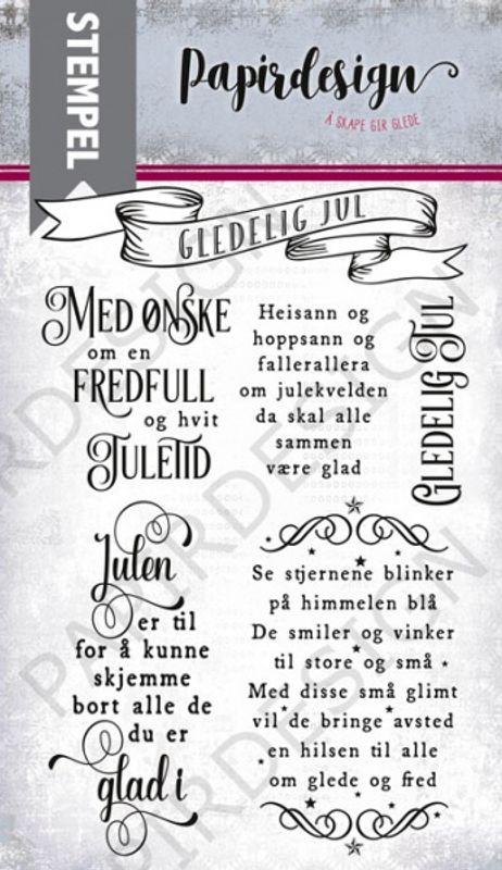 Stempel PD 17334 Fredfull og hvit Jul