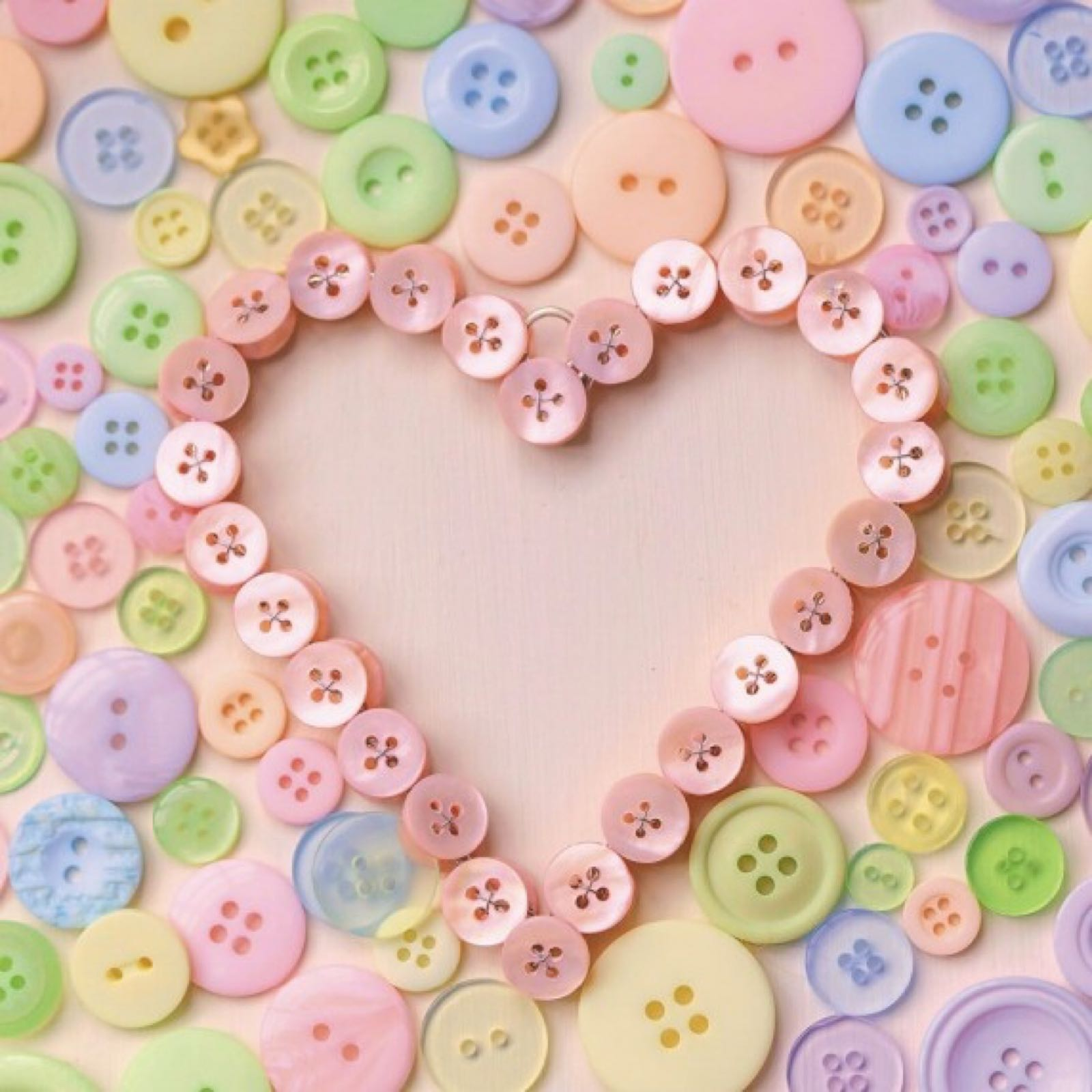 'Buttons Heart' Exposure Card