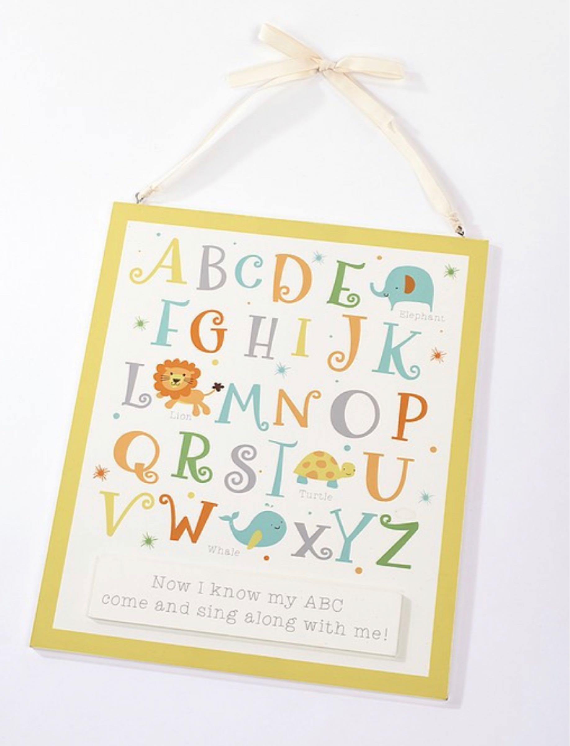 Unisex alphabet plaque