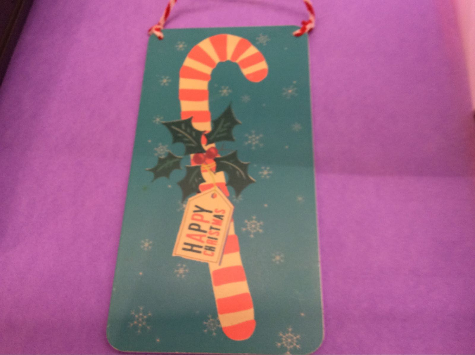 Candy Cane Christmas Sign