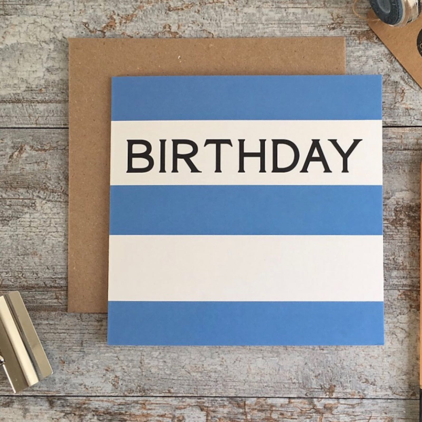 'Birthday Stripe' Corniche Card