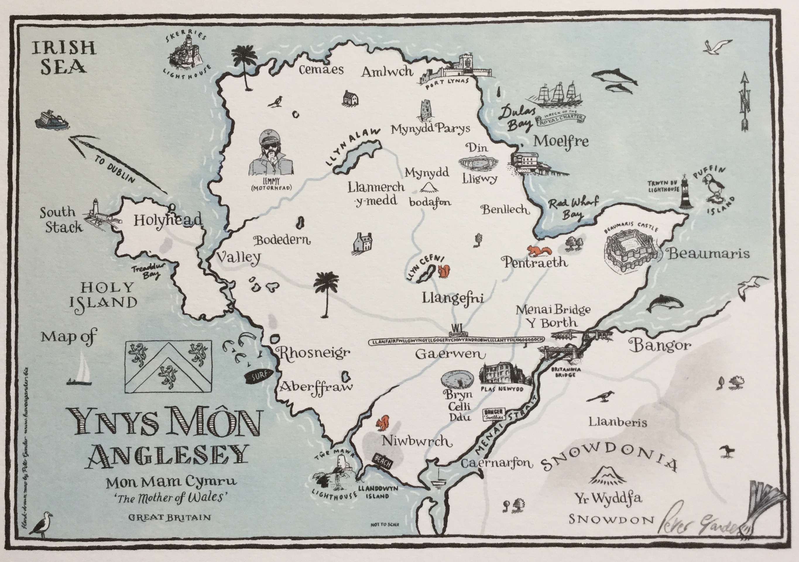 Anglesey map