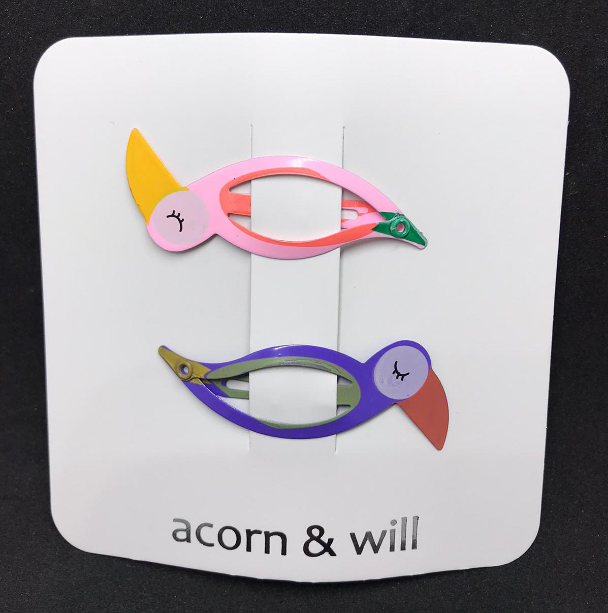 Acorn & Will Bird Hair Clips