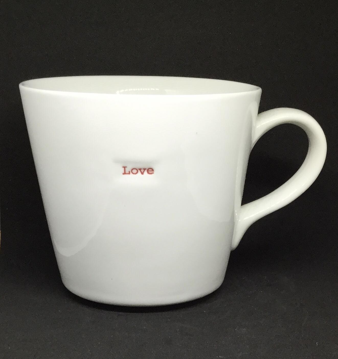 'Love' fine bone China mug