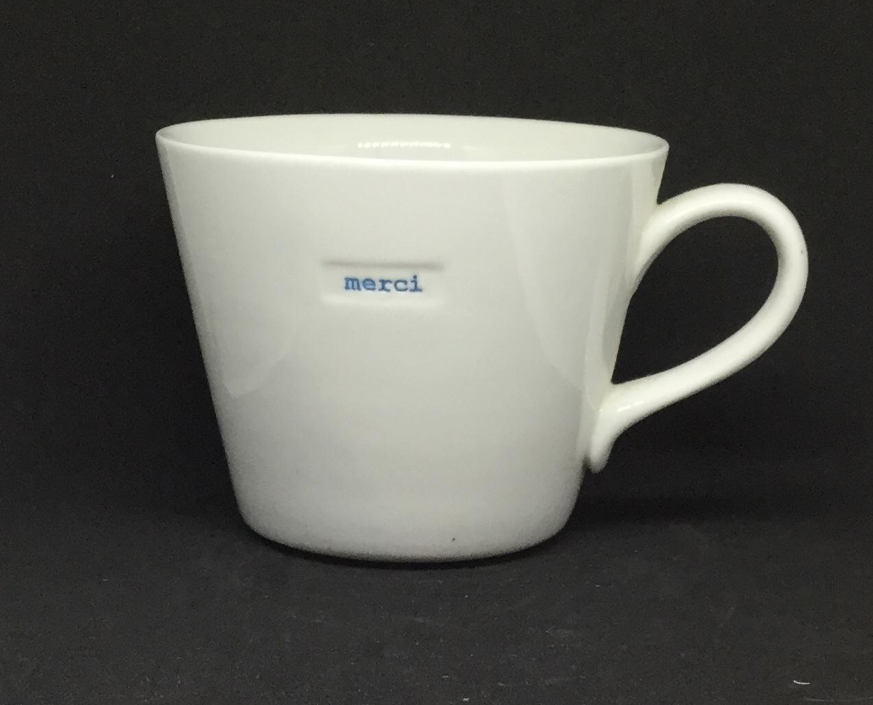 'Merci' fine bone China mug